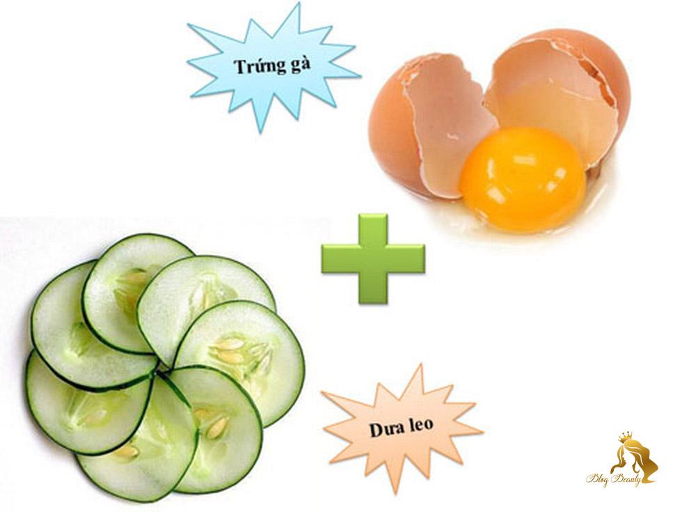 Mặt nạ dưa leo và lòng trắng trứng