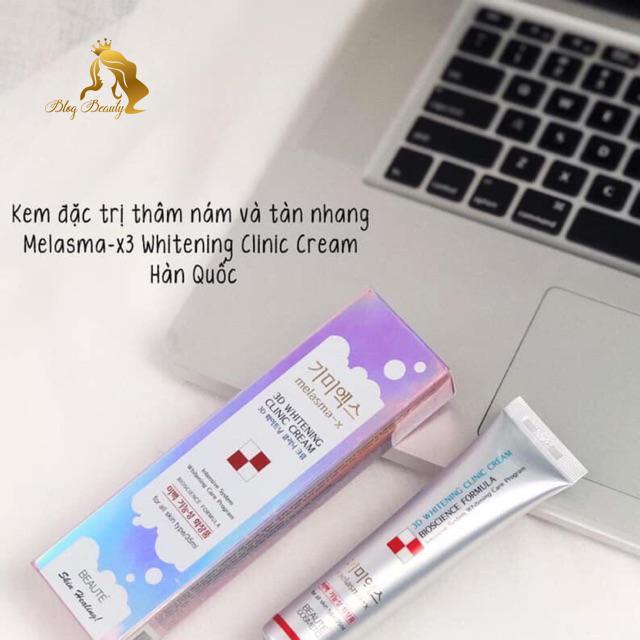 Thành phần 3D Whitening Clinic Cream