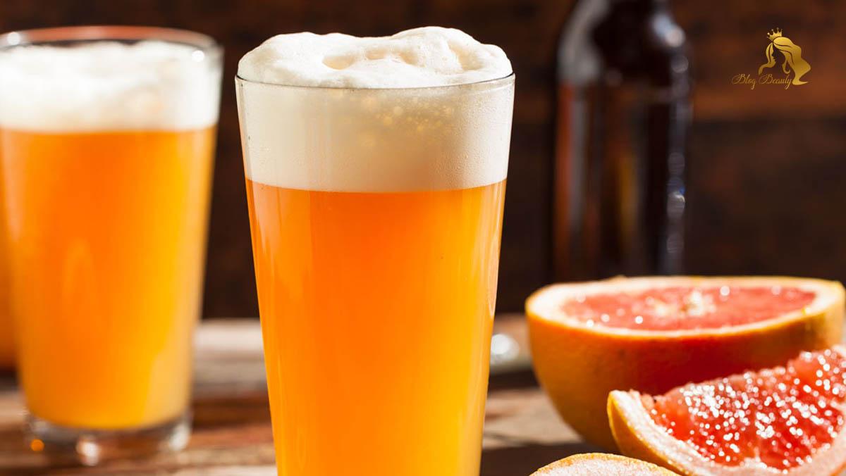 Làm trăng da bằng bia và chanh