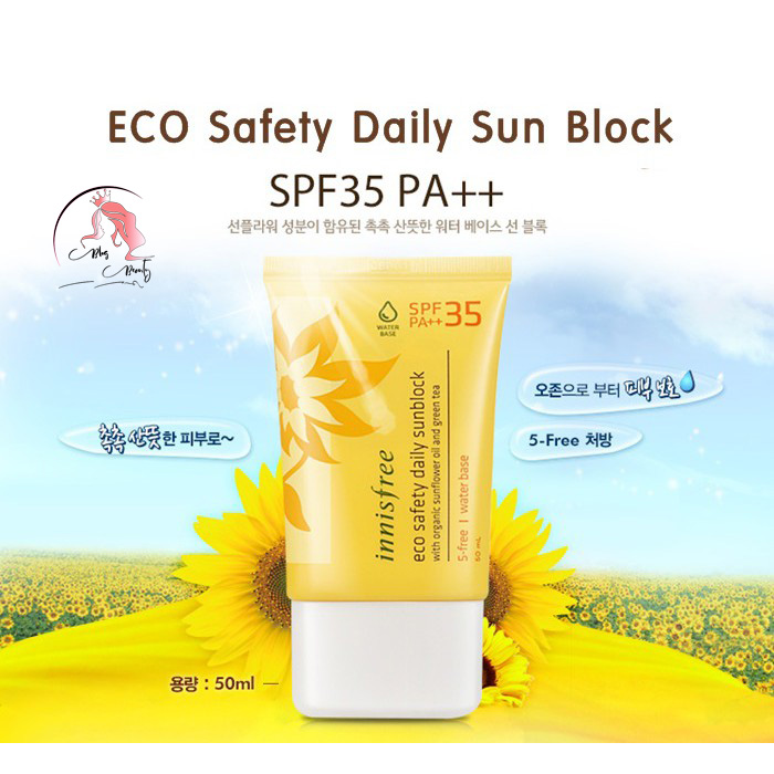 Kem chống nắng Innisfree Eco Safety Daily Sunblock SPF 35 PA