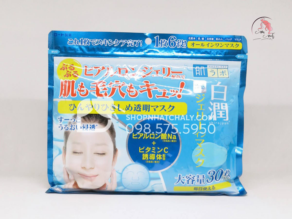 Mặt nạ dưỡng ẩm Hada Labo Shirojyun Cooling Jelly in Mask