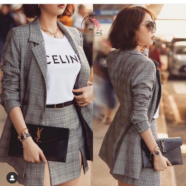 Mẫu thời trang áo khoác blazer
