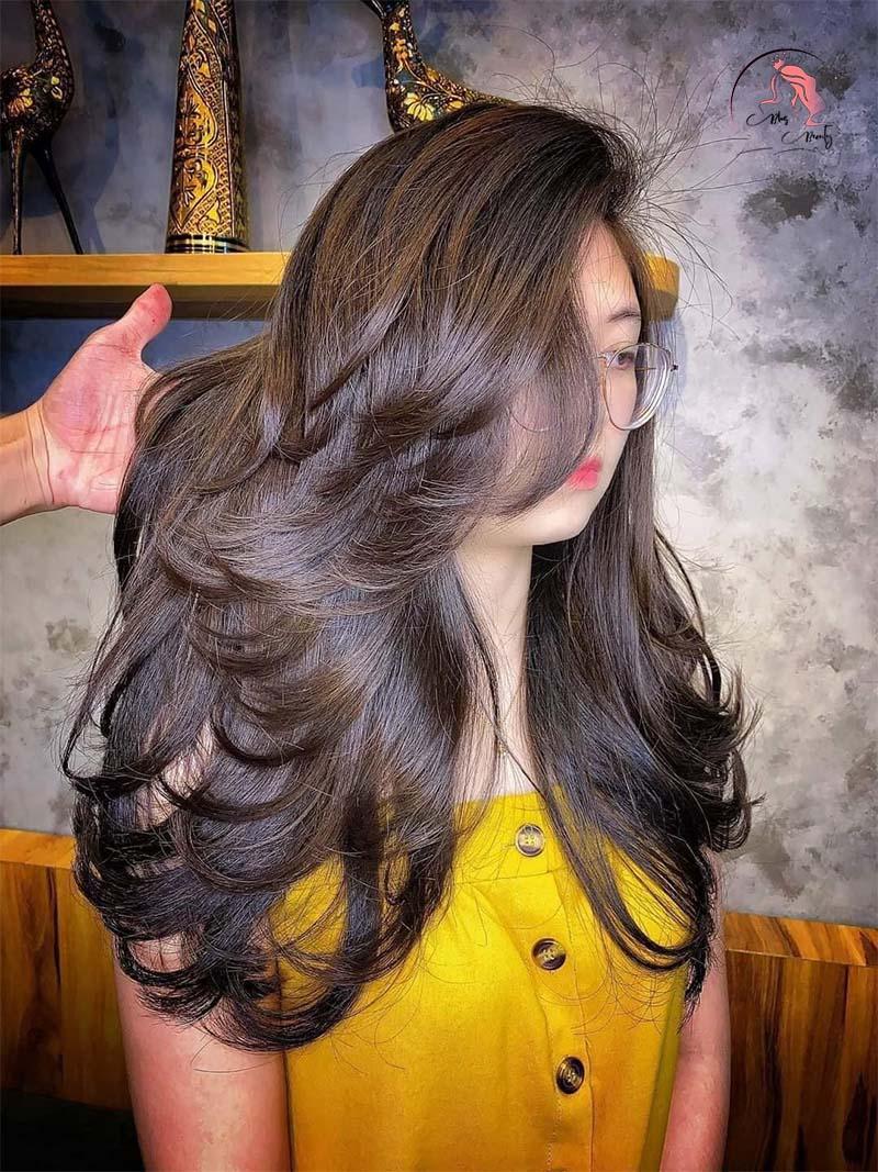 Sấy tóc layer bồng bềnh