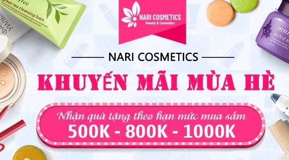 Chương trình khuyến mãi tại Nari Cosmetics