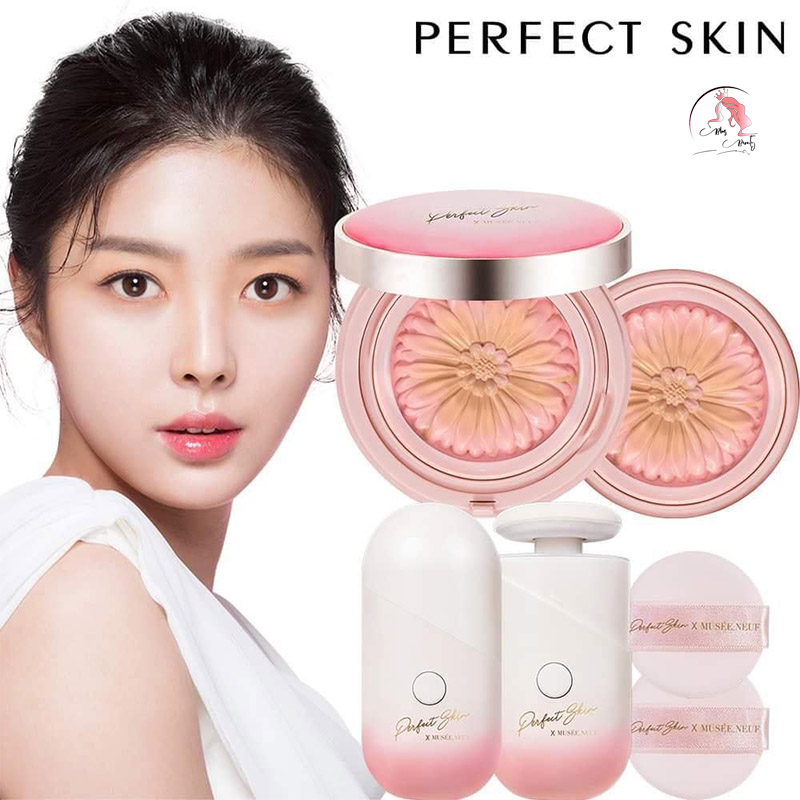 Phấn Tươi Perfect Skin Art Flower Double Power Essence Cover Pact