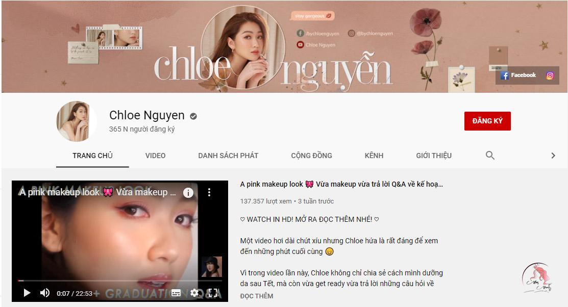 Kênh youtube Chloe Nguyen