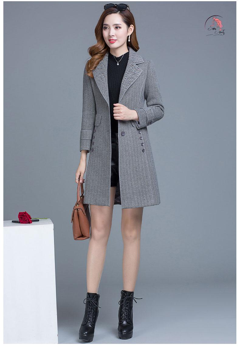 Áo khoác dạ nữ cổ Vest