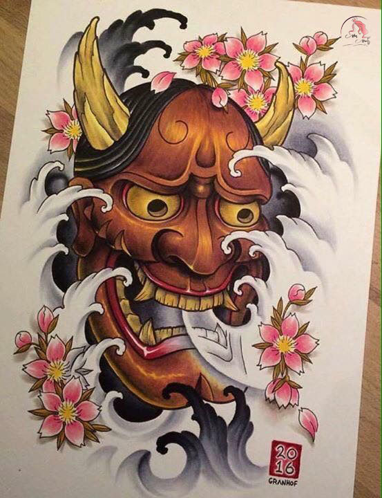 Mẫu hình mặt quỷ hoa sen