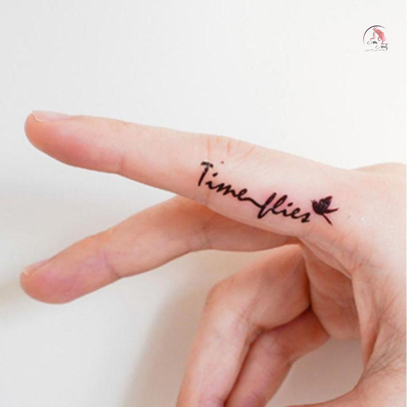 Mẫu hình xăm mini nhỏ trên ngón tay