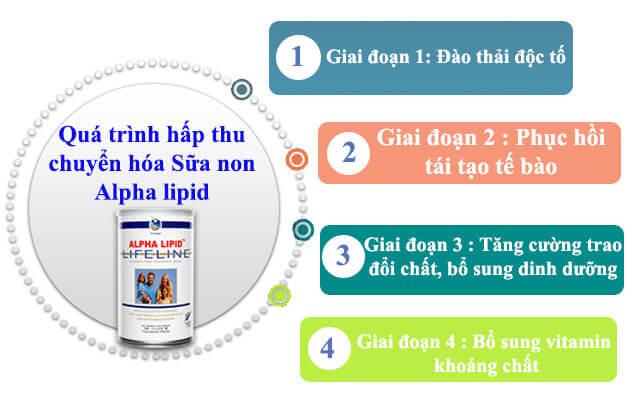 Quá trình hấp thu sữa alpha lipid lifeline