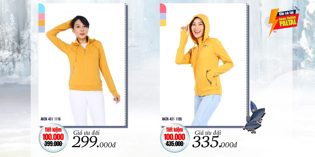 Mẫu áo khoắc chống nắng màu vàng Paltal