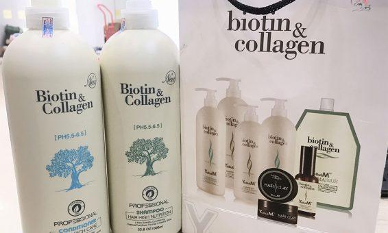 Dầu Gội Biotin Collagen vỏ màu trắng