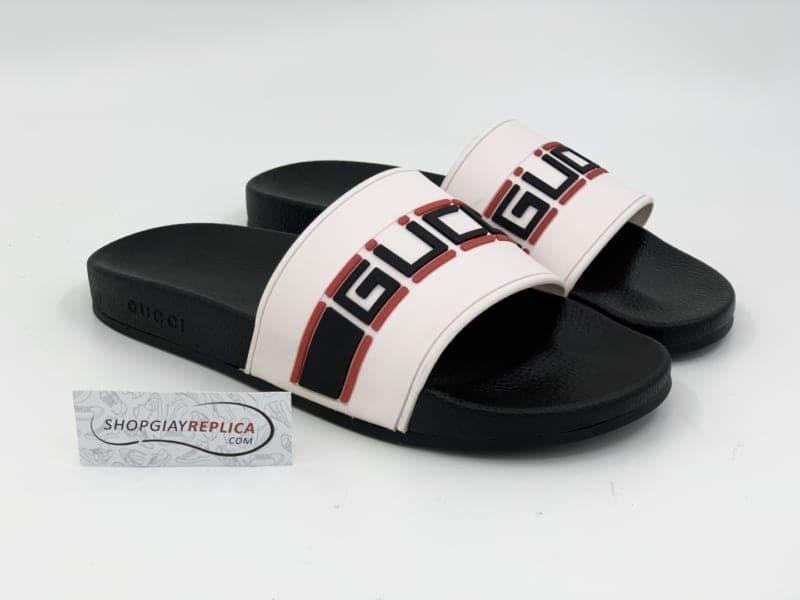 Mẫu Gucci Stripe Slide White