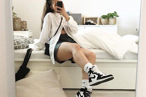 Phối giày Air Jordan 1 Panda phong cách