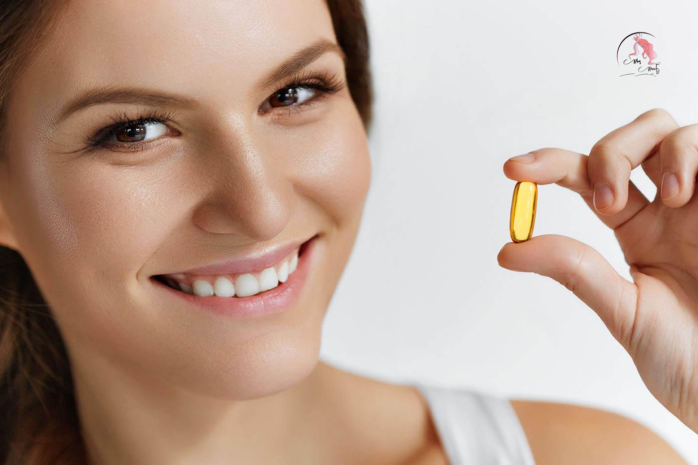 Trị nếp nhăn quanh mắt bằng vitamin E